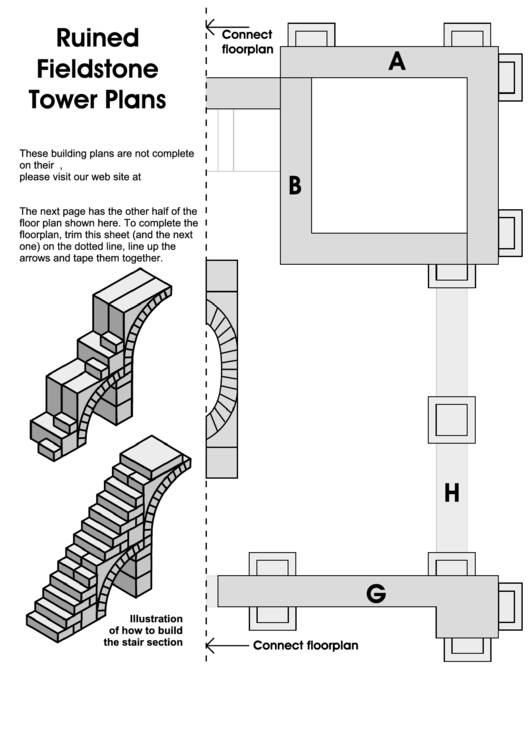Ruined Floorplan Fieldstone Tower Plans
