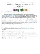Electrician Service Invoice Template