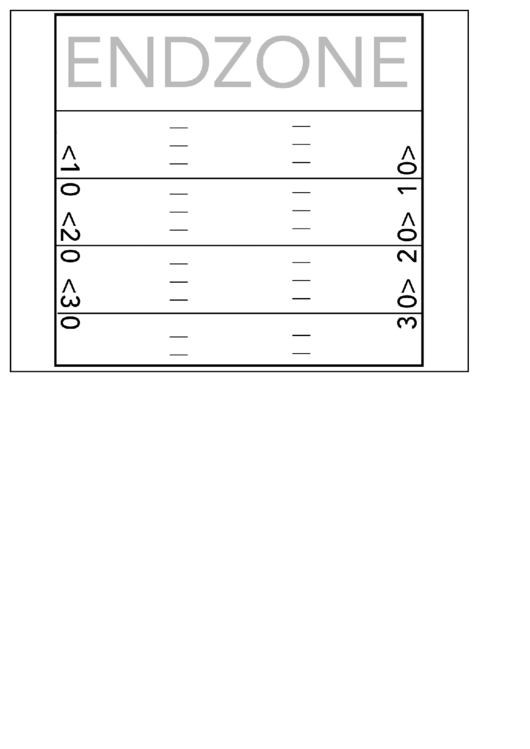 Football Endzone Play Sheet Template