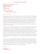 Graduate School Letter Of Recommendation Template - Sample