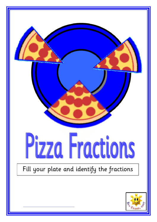 Pizza Fractions Poster Template Printable pdf