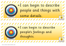 Writing Targets Achievement Handout Sticker Template