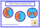 Pizza Fraction Display Pack Poster Template