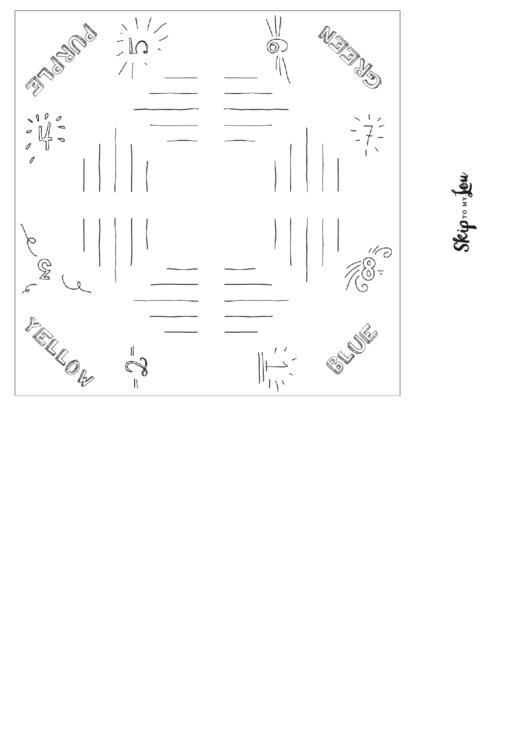 blank wedding fortune teller template printable pdf download