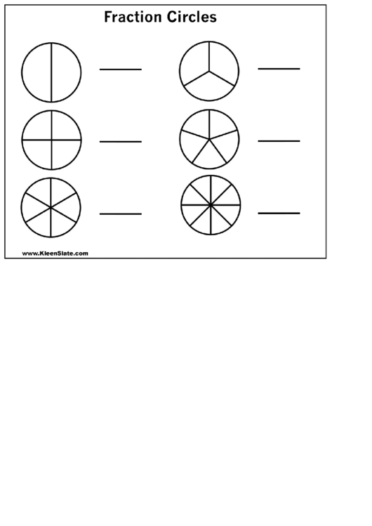 photograph relating to Printable Fraction Circles known as Blank Portion Circles Template printable pdf down load