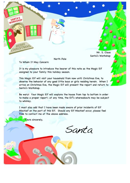 Santa's Workshop Writing Paper