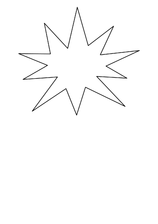 Starburst Pattern Template printable pdf download