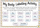 My Body Labelling Activity Sheet - Boy & Girl