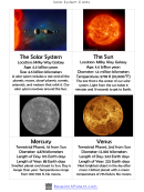 Solar System Cards Template