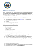 Form Ds-4194 - Request For Authentications Service
