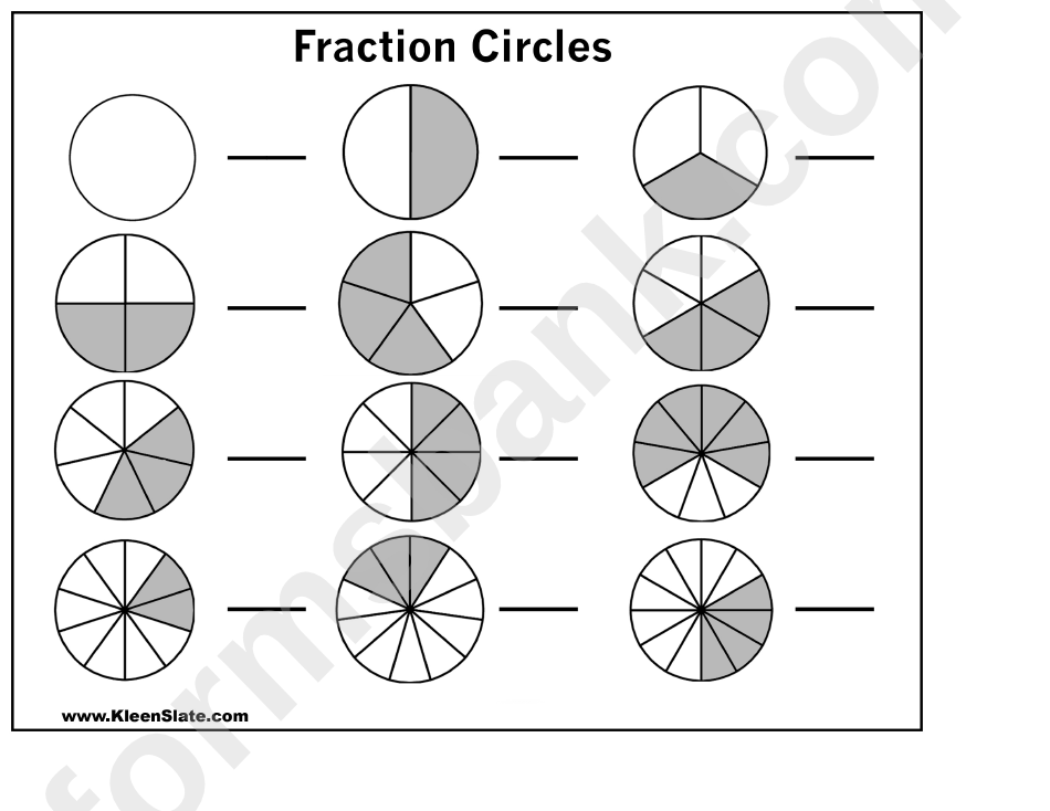 photograph about Fraction Circles Printable known as Portion Circles Template - 3 Columns printable pdf down load