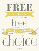 Choice Yellow Poster Template
