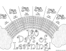 180 Days Of Learning Goal Tracking Sheet - Black & White