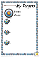 My Targets Classroom Poster Template