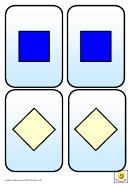 Mini 2d Shape Cards Template