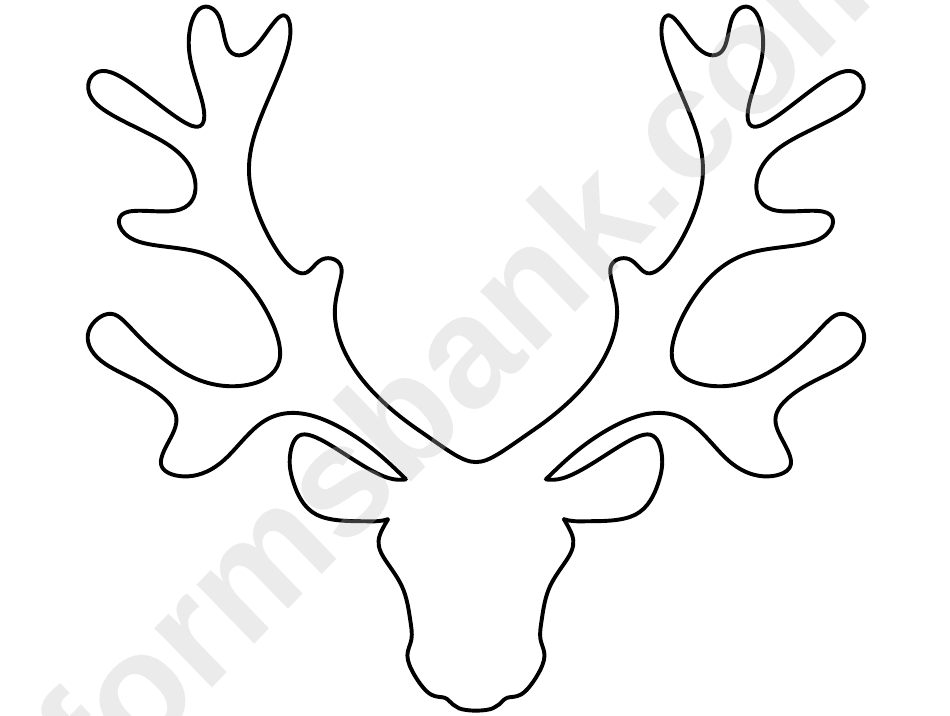 Reindeer Head Pattern Template