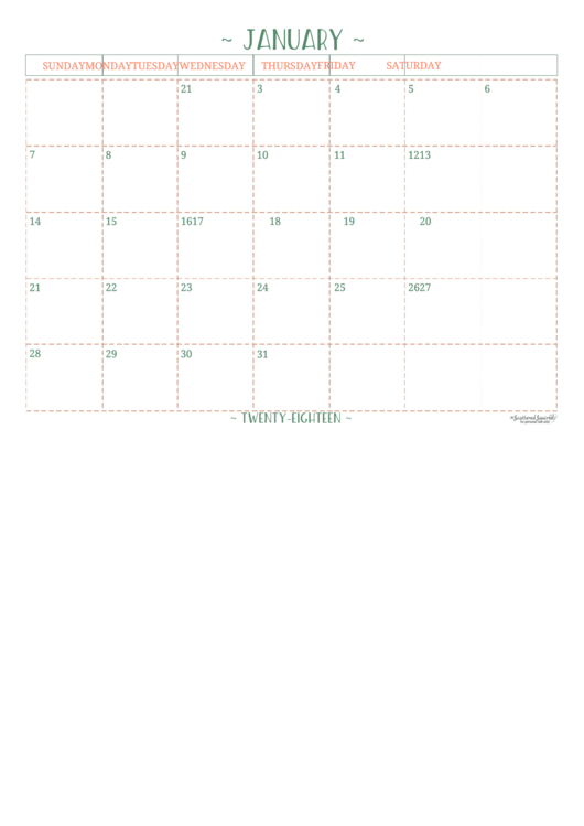 Yearly Calendar Template - Scattered Squirrel