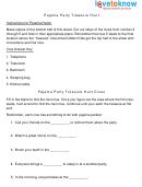 Pajama Party Treasure Hunt Clues Sheet