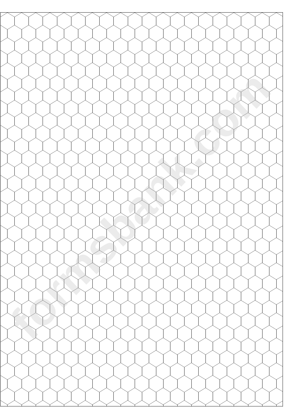 Hexagon Graph Paper Template printable pdf download