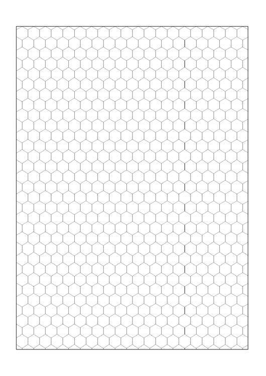 hexagon graph paper template printable pdf download