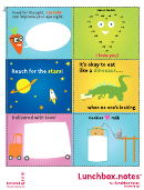 Lunchbox Notes Activity Sheet