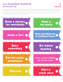 Boredom Busters Label Template Set