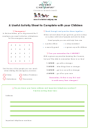 Helping Stranger Danger Activity Sheet