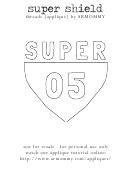 Black & White Superman Shield Template