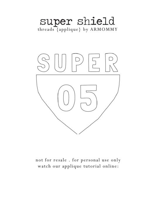 Black White Superman Shield Template