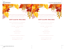 Let's Give Thanks Invitation Template
