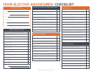 Tiger Elective Adventures Checklist Template