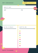 Hey Gorgeous Daily Planner Template