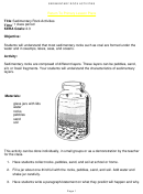 Sedimentary Rock Activities Lesson Plan Template