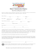 Illinois' Immunization Registry Opt Out Of Registry Form - Department Of Public Health