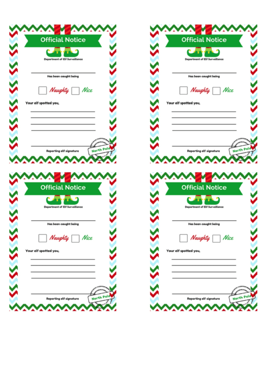 Christmas Little Letter Template - Elf Official Notice