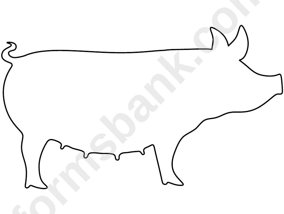 Black And White Pig Template