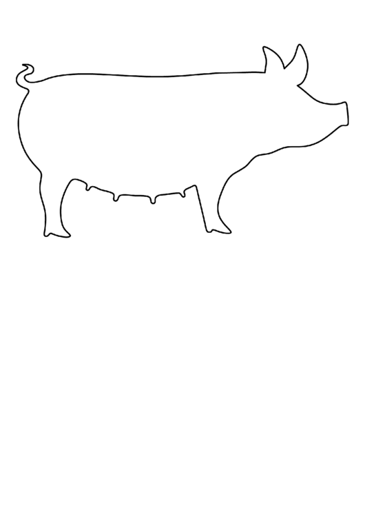 Black And White Pig Template Printable pdf