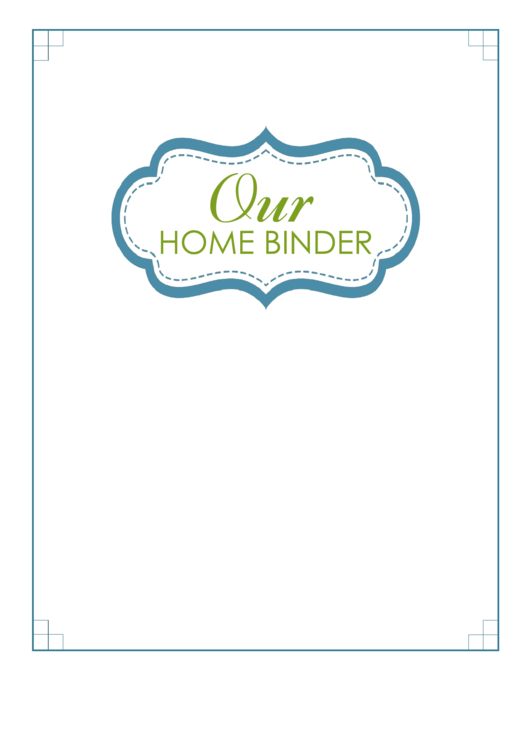 Our Home Binder Label Template