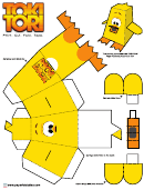 Toki Tori Foldable Template