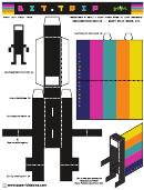 Bit Trip Foldables Template