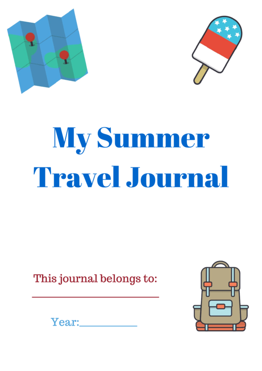 My Summer Travel Journal Cover Template