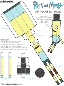 Mr Poopy Butthole Foldable Template