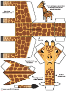 Giraffe Foldable Template