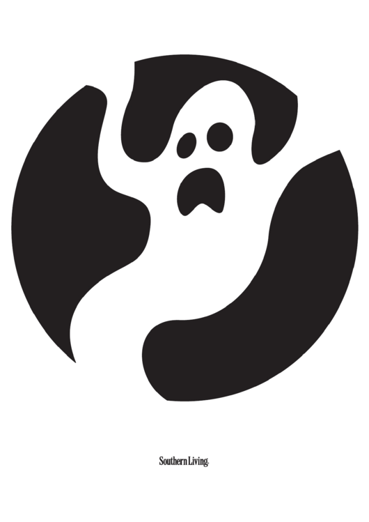 Black And White Halloween Ghost Template
