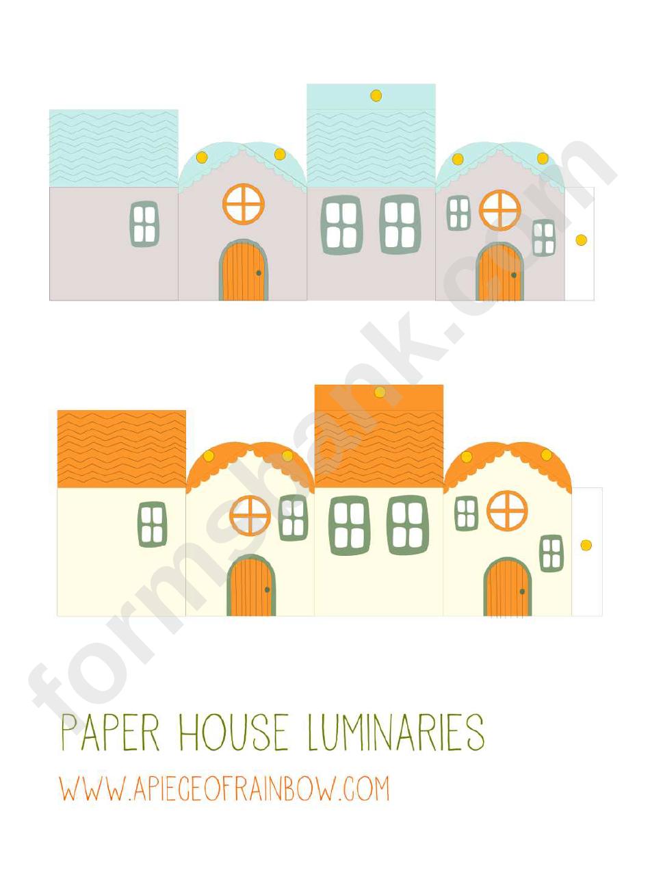 Multicolor Paper House Templates Printable Pdf Download