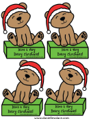 Have A Very Beary Christmas Bear Pattern Templates