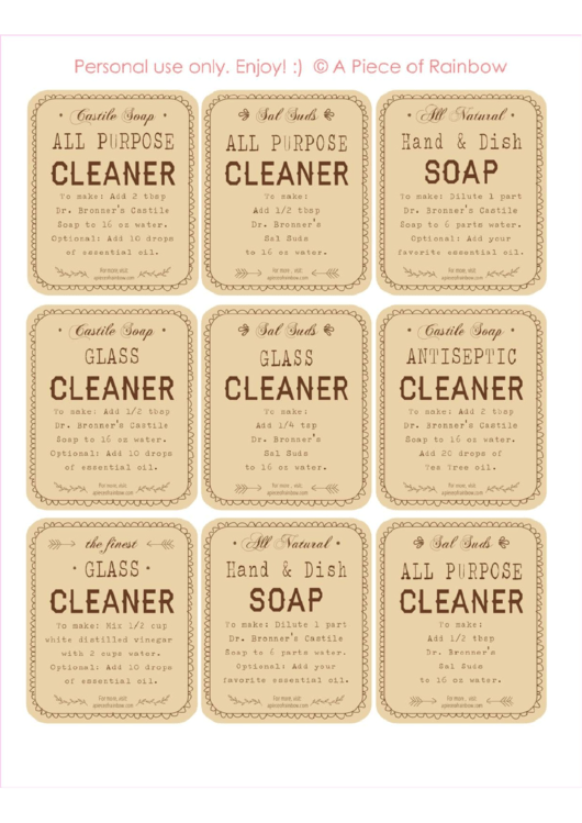 Top Soap Label Templates free to download in PDF format
