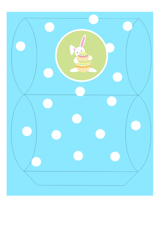 Easter Basket Template - Turquoise With Bunny