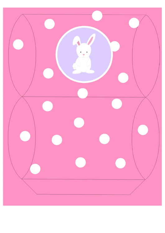 Easter Basket Template - Pink With Bunny