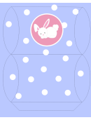 Easter Basket Template - Periwinkle With Bunny